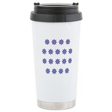 Field Of Blue Stars Ceramic Travel Mug