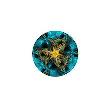 fractal starfish Mini Button (10 pack)