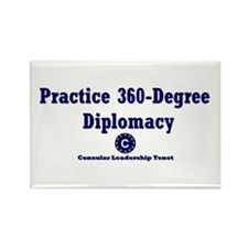 DP-Practice 360-Degree Diplomacy Rectangle Magnet