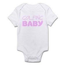 Golfing Baby (Pink) Infant Bodysuit
