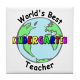 Best Kindergarten Teacher Tile Coaster