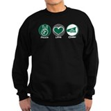 Peace Love Cheer Green Sweatshirt