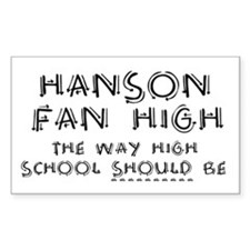 Hanson Fan High Decal