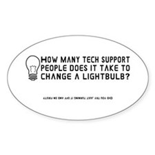 Tech Support Oval Decal