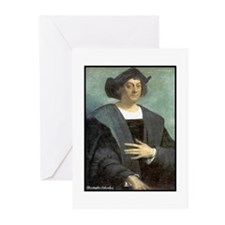 "Faces ""Columbus"" Greeting Cards (Pk of 10)"