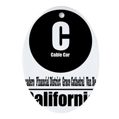 C California Cable Car (Class Oval Ornament