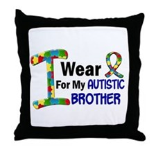 I Wear Puzzle Ribbon 21 (Brother) Throw Pillow