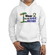 I Wear Puzzle Ribbon 21 (Brother) Hoodie