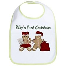 Cute Baby's first christmas Bib