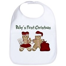 Cute Babys first christmas Bib