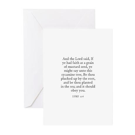 LUKE 17:6 Greeting Cards (Pk of 10)