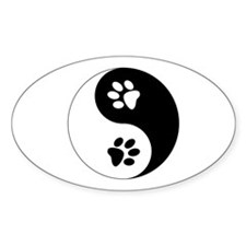 Yin Yang Paws Decal