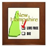 Live Free or Die New Hampshire Framed Tile