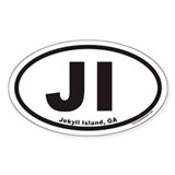 Jekyll Island JI Euro Oval Decal
