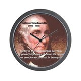 Poet William Wordsworth Wall Clock