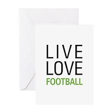 Live Love Football Greeting Card