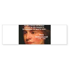 Feminist Mary Wollstonecraft Bumper Sticker