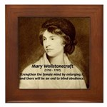 Mary Wollstonecraft Framed Tile