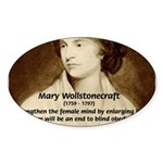 Mary Wollstonecraft Oval Sticker