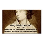 Mary Wollstonecraft Rectangle Sticker