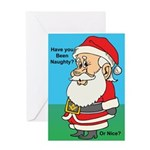 Naughty or nice Greeting Card