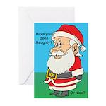 Naughty or nice Greeting Cards (Pk of 10)