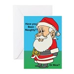 Naughty or nice Greeting Cards (Pk of 20)