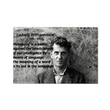 Ludwig Wittgenstein Rectangle Magnet (100 pack)