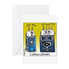 2 Ohm and 4 Ohm Amps Greeting Cards (Pk of 20)