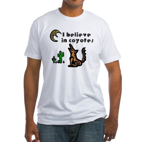 Believe in Coyotes Fitted T-Shirt