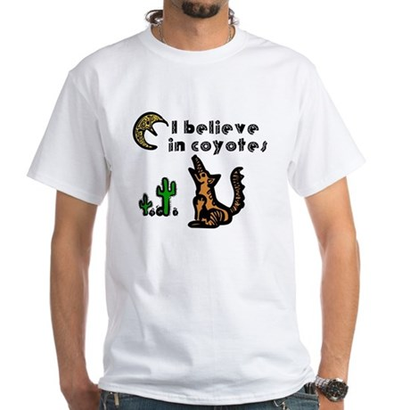 Believe in Coyotes White T-Shirt
