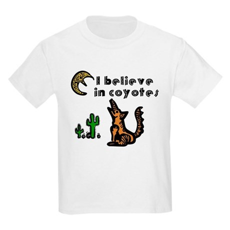 Believe in Coyotes Kids Light T-Shirt