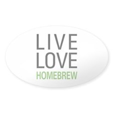 Live Love Homebrew Oval Sticker (10 pk)