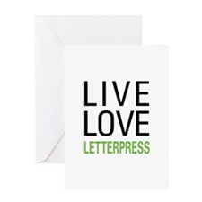 Live Love Letterpress Greeting Card