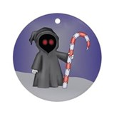 Christmas Grim Reaper Ornament (Round)