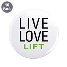 "Live Love Lift 3.5"" Button (10 pack)"
