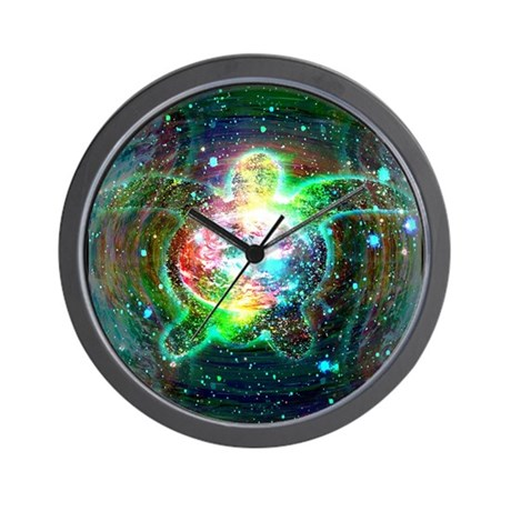 Cosmic Turtle Wall Clock