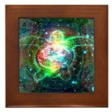 Cosmic Turtle Framed Tile