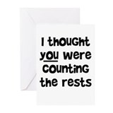 who's counting the rests? Greeting Cards (Pk of 20