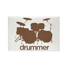 Drummer Rectangle Magnet (100 pack)