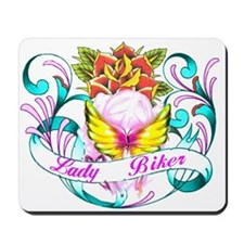 Lady Biker Mousepad