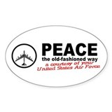 Peace the old-fashioned way... (Sticker 10 Pack)