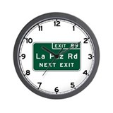 La Paz Road, California Wall Clock