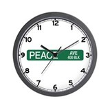 Peace Ave., New Braunfels (TX) Wall Clock