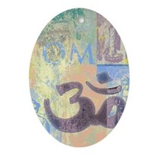 Yoga Om Holiday Ornament (Oval)