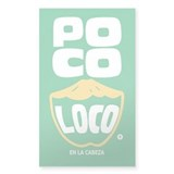 Poco Loco Rectangle Sticker 10 pk)
