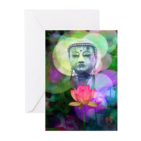 Serenely Awakened One Greeting Cards (Pk of 10)