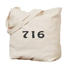 716 Area Code Tote Bag
