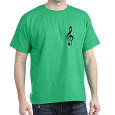 Black Treble Clef T-Shirt