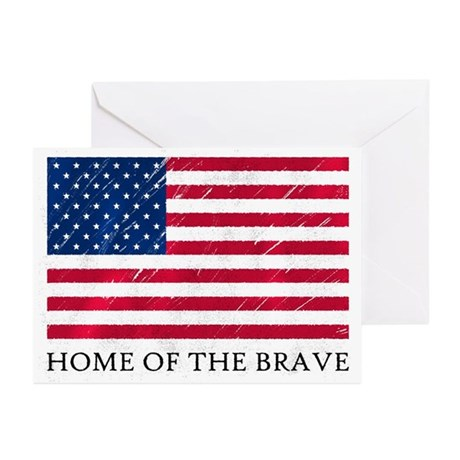 HOME OF THE BRAVE Greeting Cards (Pk of 20)